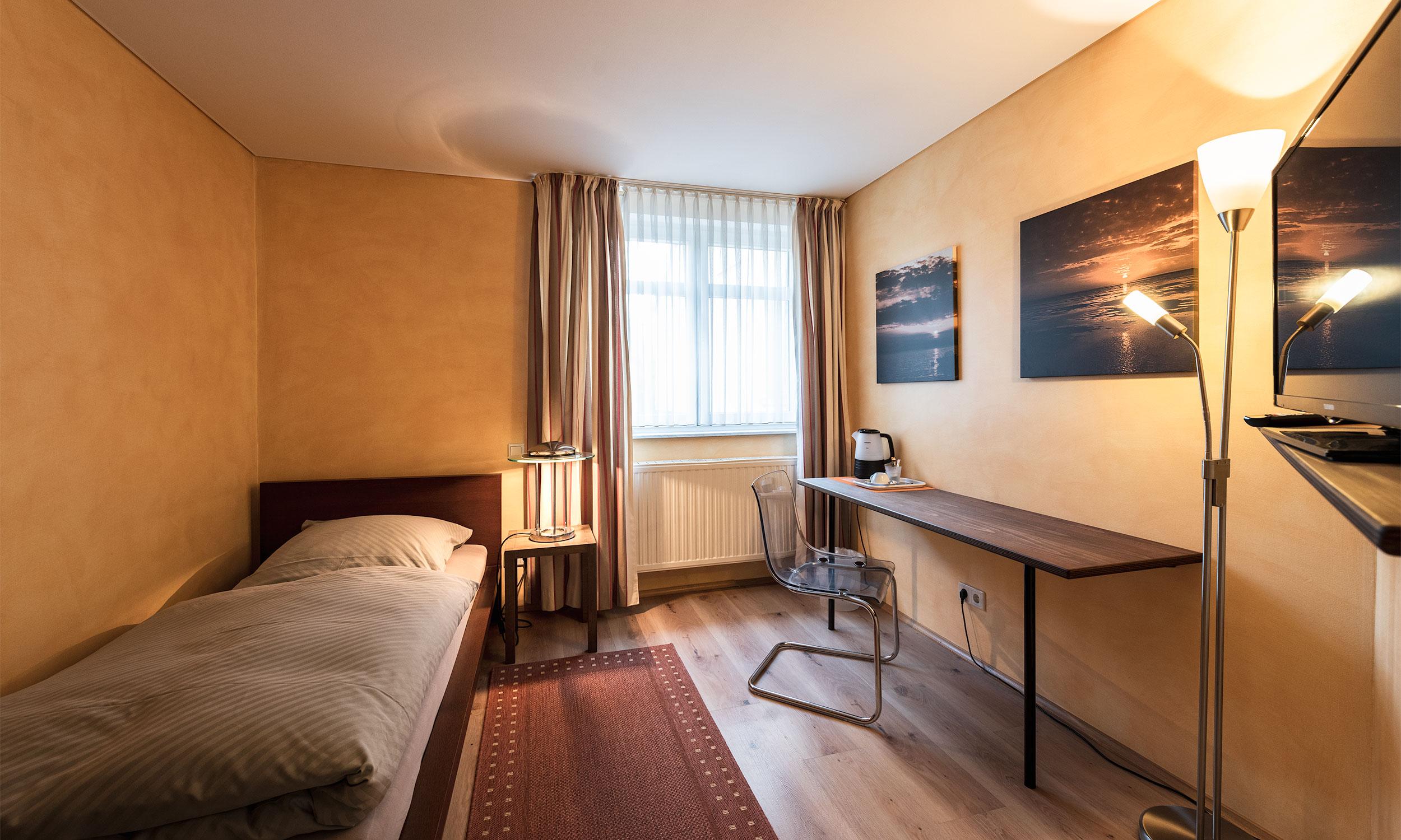 Einzelzimmer in Ratingen – Hotel Die Krone Homberg